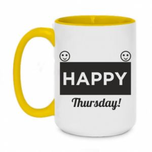 Kubek dwukolorowy 450ml Happy Thursday