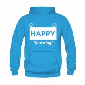 Bluza z kapturem dziecięca Happy Thursday