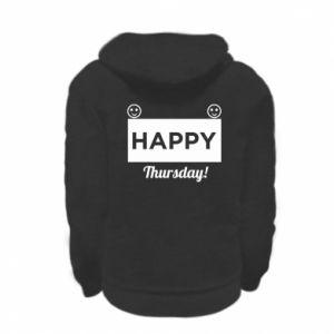 Bluza na zamek dziecięca Happy Thursday