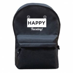 Plecak z przednią kieszenią Happy Tuesday