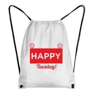 Plecak-worek Happy Tuesday