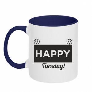 Kubek dwukolorowy Happy Tuesday