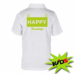 Dziecięca koszulka polo Happy Tuesday
