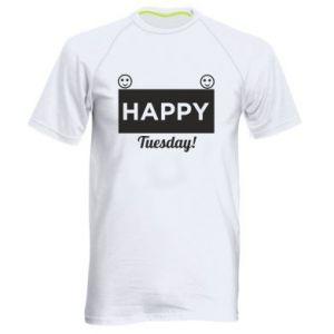Męska koszulka sportowa Happy Tuesday