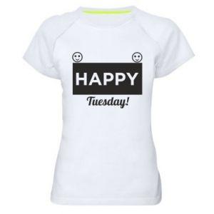 Damska koszulka sportowa Happy Tuesday
