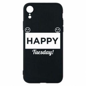 Etui na iPhone XR Happy Tuesday