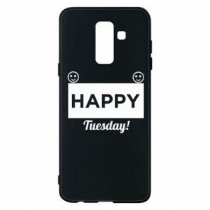 Etui na Samsung A6+ 2018 Happy Tuesday