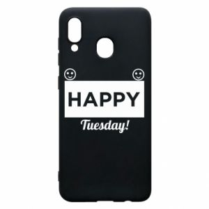 Etui na Samsung A30 Happy Tuesday
