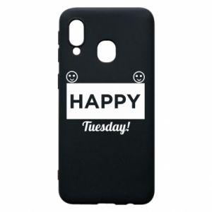 Etui na Samsung A40 Happy Tuesday