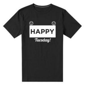 Męska premium koszulka Happy Tuesday