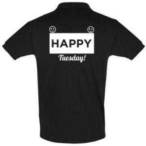 Men's Polo shirt Happy Tuesday