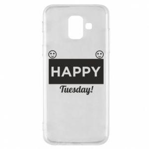 Etui na Samsung A6 2018 Happy Tuesday