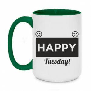 Kubek dwukolorowy 450ml Happy Tuesday