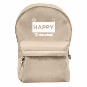 Plecak z przednią kieszenią Happy Wednesday