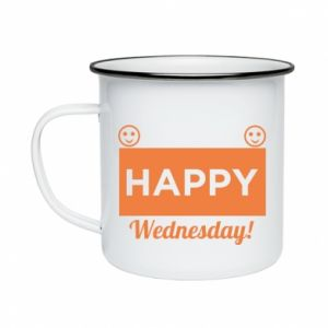 Kubek emaliowane Happy Wednesday
