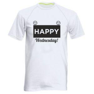 Męska koszulka sportowa Happy Wednesday