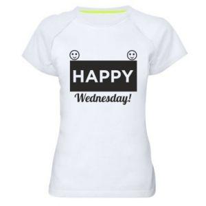 Damska koszulka sportowa Happy Wednesday