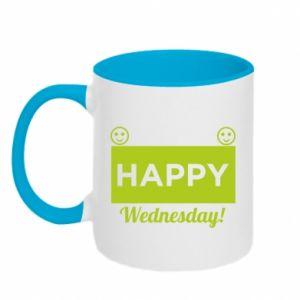 Kubek dwukolorowy Happy Wednesday