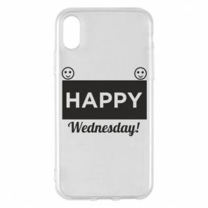 Etui na iPhone X/Xs Happy Wednesday