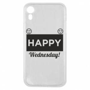Etui na iPhone XR Happy Wednesday
