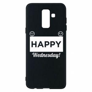 Etui na Samsung A6+ 2018 Happy Wednesday