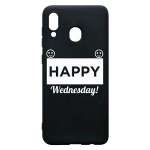 Etui na Samsung A20 Happy Wednesday