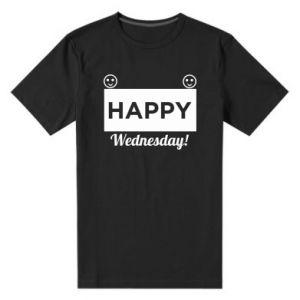 Męska premium koszulka Happy Wednesday