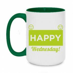 Kubek dwukolorowy 450ml Happy Wednesday