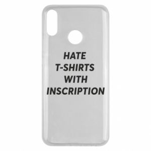 Etui na Huawei Y9 2019 HATE  T-SHIRTS  WITH INSCRIPTION