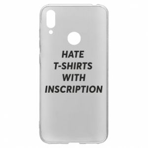 Etui na Huawei Y7 2019 HATE  T-SHIRTS  WITH INSCRIPTION