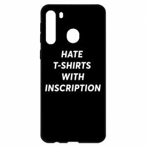 Etui na Samsung A21 HATE  T-SHIRTS  WITH INSCRIPTION