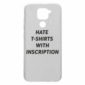Etui na Xiaomi Redmi Note 9/Redmi 10X HATE  T-SHIRTS  WITH INSCRIPTION