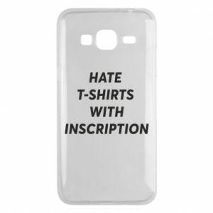 Etui na Samsung J3 2016 HATE  T-SHIRTS  WITH INSCRIPTION