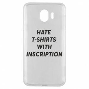 Etui na Samsung J4 HATE  T-SHIRTS  WITH INSCRIPTION