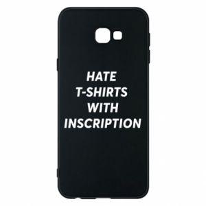 Etui na Samsung J4 Plus 2018 HATE  T-SHIRTS  WITH INSCRIPTION