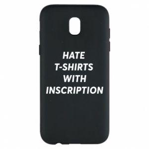 Etui na Samsung J5 2017 HATE  T-SHIRTS  WITH INSCRIPTION
