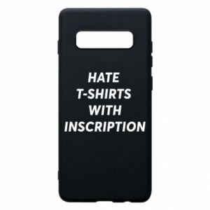 Etui na Samsung S10+ HATE  T-SHIRTS  WITH INSCRIPTION