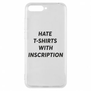 Etui na Huawei Y6 2018 HATE  T-SHIRTS  WITH INSCRIPTION