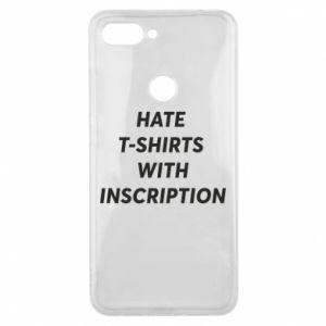 Etui na Xiaomi Mi8 Lite HATE  T-SHIRTS  WITH INSCRIPTION