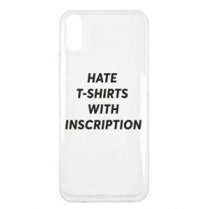 Etui na Xiaomi Redmi 9a HATE  T-SHIRTS  WITH INSCRIPTION