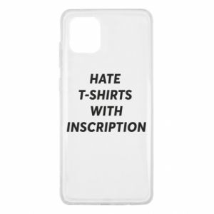 Etui na Samsung Note 10 Lite HATE  T-SHIRTS  WITH INSCRIPTION