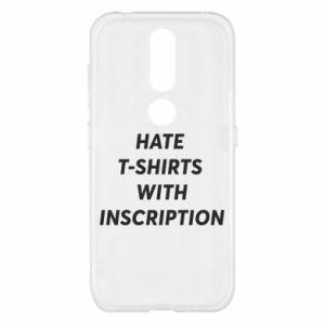 Etui na Nokia 4.2 HATE  T-SHIRTS  WITH INSCRIPTION