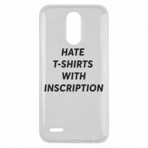 Etui na Lg K10 2017 HATE  T-SHIRTS  WITH INSCRIPTION