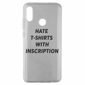 Etui na Huawei Honor 10 Lite HATE  T-SHIRTS  WITH INSCRIPTION