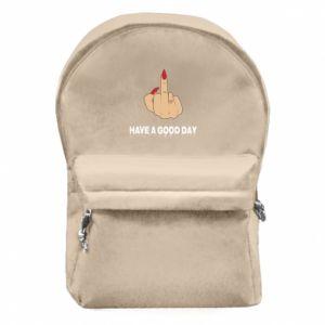Plecak z przednią kieszenią Have a good day