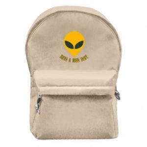 Plecak z przednią kieszenią Have a nice stay