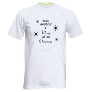 Men's sports t-shirt Have yourself a merry little Christmas