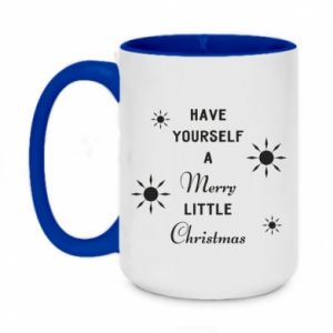 Two-toned mug 450ml Have yourself a merry little Christmas