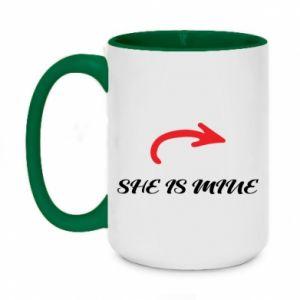 Two-toned mug 450ml He's mine