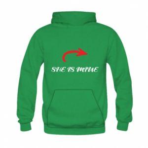 Kid's hoodie He's mine